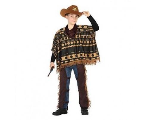 taglia 7 colore n brillante vendita ufficiale COW BOY CON PONCHO